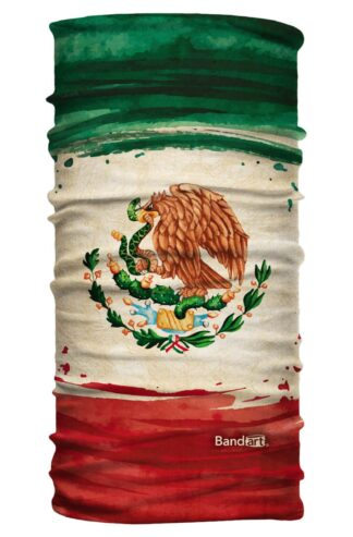 Bandera de México - Banda Multifuncional Máscara Face Shield tipo Buff - Bandart Diseño por Artistas Mexicanos, Empresa Mexicana