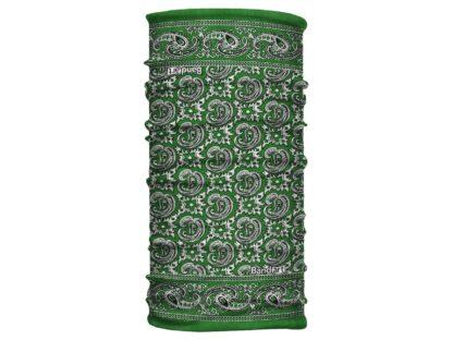 Paliacate Verde - Banda Multifuncional Máscara Face Shield tipo Buff - Bandart Diseño por Artistas Mexicanos, Empresa Mexicana