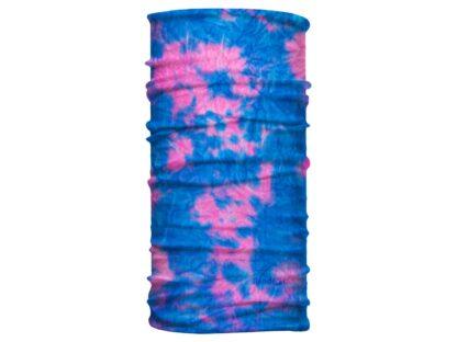 Tie Dye Rosa y Azul - Banda Multifuncional Máscara Face Shield tipo Buff - Bandart Diseño por Artistas Mexicanos, Empresa Mexicana