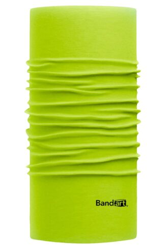 Verde Neón Fresh - Banda Multifuncional Máscara Face Shield tipo Buff - Diseño Bandart Original, Empresa Mexicana