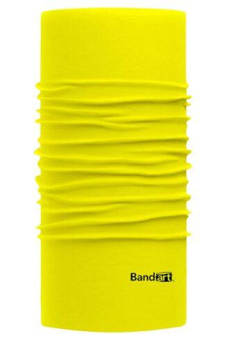 Amarillo Neón Fresh - Banda Multifuncional Máscara Face Shield tipo Buff - Diseño Bandart Original, Empresa Mexicana
