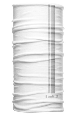 Blanco Reflective - Banda Multifuncional Máscara Face Shield tipo Buff - Diseño Bandart Original, Empresa Mexicana