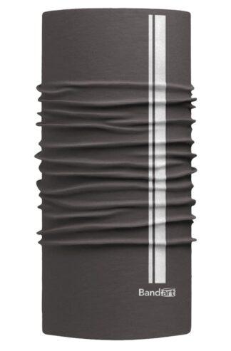 Gris Oscuro Reflective - Banda Multifuncional Máscara Face Shield tipo Buff - Diseño Bandart Original, Empresa Mexicana