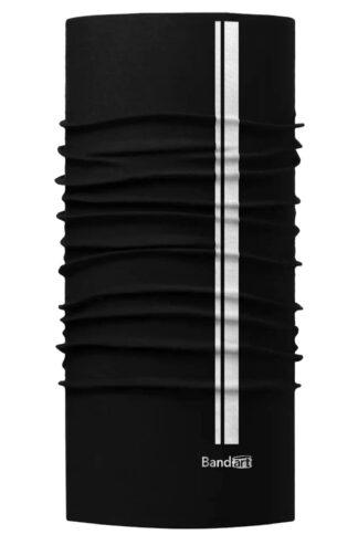 Negro Reflective - Banda Multifuncional Máscara Face Shield tipo Buff - Diseño Bandart Original, Empresa Mexicana