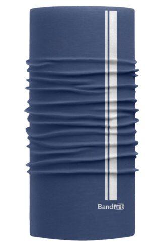 Azul Egeo Reflective - Banda Multifuncional Máscara Face Shield tipo Buff - Diseño Bandart Original, Empresa Mexicana