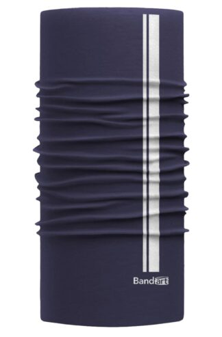 Azul Marino Reflective - Banda Multifuncional Máscara Face Shield tipo Buff - Diseño Bandart Original, Empresa Mexicana