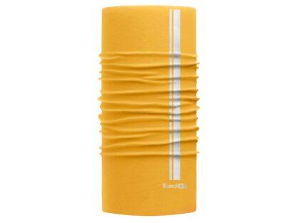 Amarillo Pooh Reflective - Banda Multifuncional Máscara Face Shield tipo Buff - Diseño Bandart Original, Empresa Mexicana
