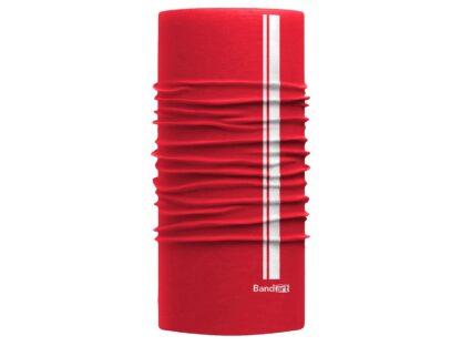 Rojo Reflective - Banda Multifuncional Máscara Face Shield tipo Buff - Diseño Bandart Original, Empresa Mexicana