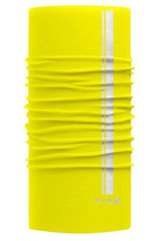 Amarillo Neón Reflective - Banda Multifuncional Máscara Face Shield tipo Buff - Diseño Bandart Original, Empresa Mexicana