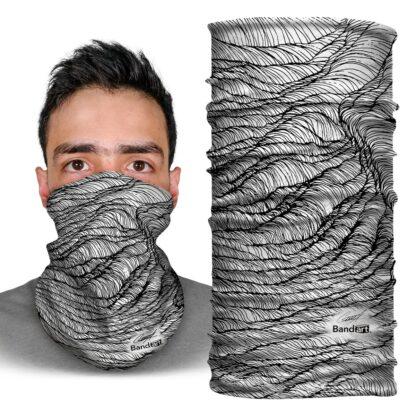 Mareas y Raíces 3 de 4 - Banda Multifuncional Máscara Face Shield tipo Buff - Bandart Diseño por Artistas Mexicanos, Empresa Mexicana