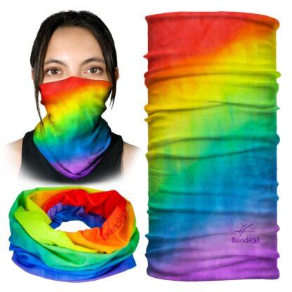 Tie Dye Arcoiris- Banda Multifuncional Máscara Face Shield tipo Buff - Bandart Diseño por Artistas Mexicanos, Empresa Mexicana